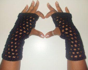 Hand gehaakte polswarmers vingerloze handschoenen met bont