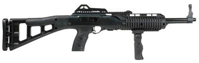 HI POINT FIREARMS (MKS) Carbine Hi-Point 995FGTS Carbine SA 9mm 16.5 10+1 Syn Skeleton Stk Blk w/Fwd Fold Gri Hi-Point's 9mm carbine has an all-weather, black polymer skeleto