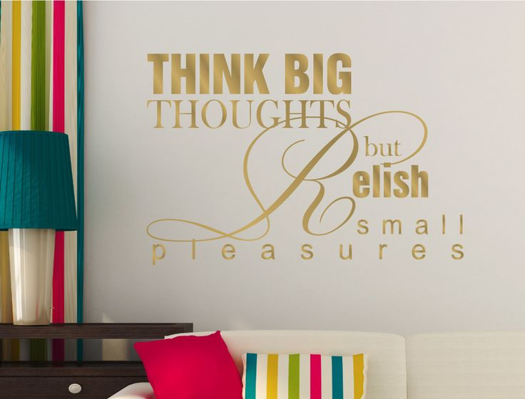 Think Big Thoughts Wall Sticker Part 65