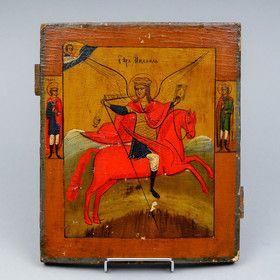 Arkkienkeli Mikael ikoni, Venäjä 1800-luku.