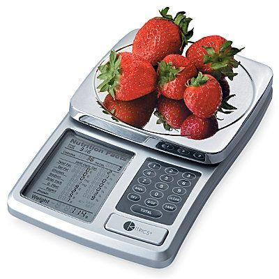 "Digital Kitchen Scale- displays the entire ""food label"". What a great tool for anyone interested in learning more about food and portion control. #foodscales"