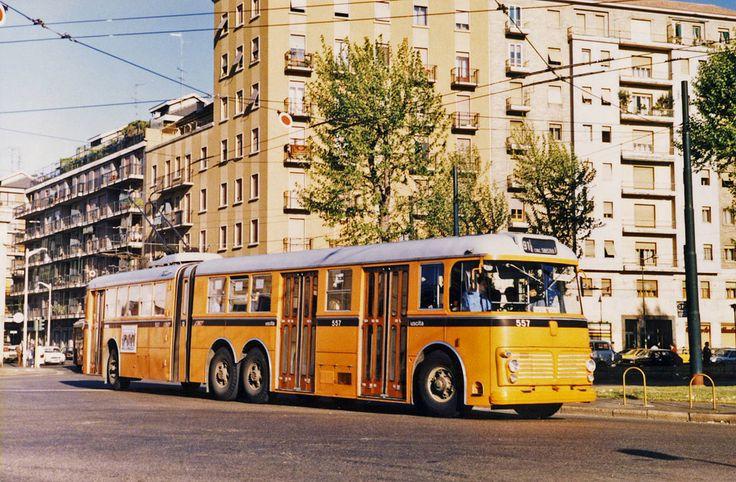 Милан, троллейбус Fiat 2472 № 557 milan