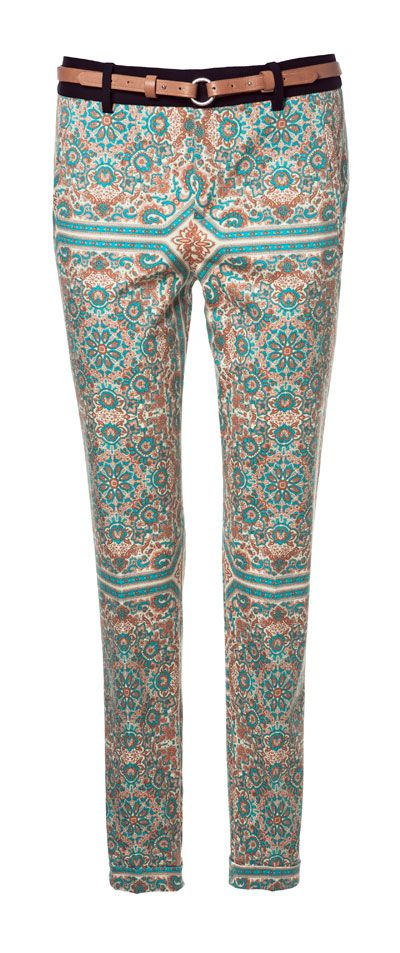 PAISLEY PRINT TROUSERS - Trousers - Woman - ZARA United States