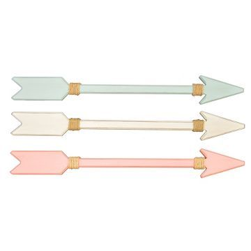3-Pack Pink/Teal/White Arrow Plaques - Pillowfort™