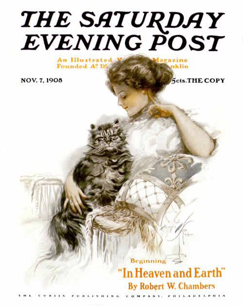 The Saturday Evening Post, November 7, 1908. Harrison Fisher