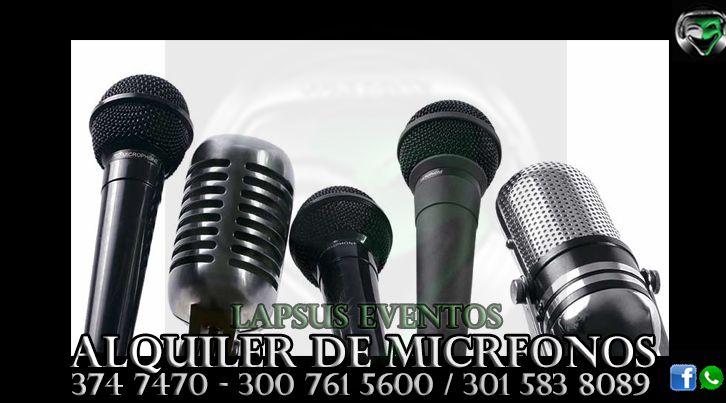 Alquiler de Microfonos en Bogota | Lapsus Eventos | Tel: 374 7470 | 300 761 5600 - 301 583 8089 | WhatsApp y Redes Sociales