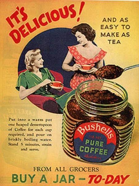 Bushells Pure Coffee Vintage Advertising Coffee