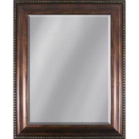 style selections x copper rectangle framed wall mirror