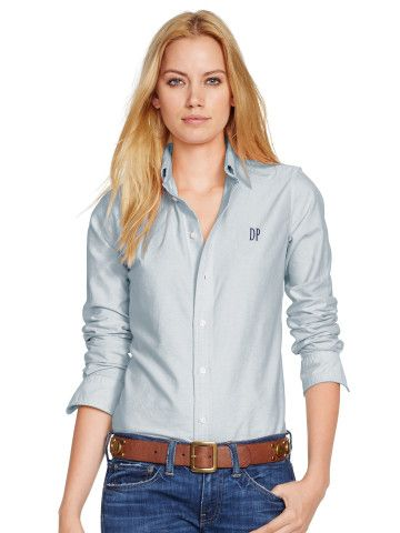 Custom-Fit Oxford Shirt - Personalization Sale - RalphLauren.com