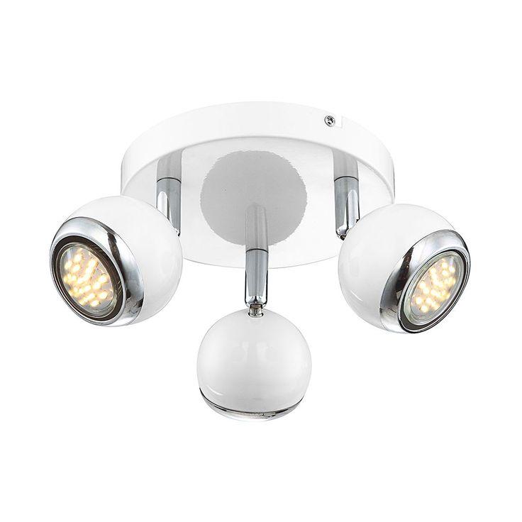 EEK A+, Deckenleuchte Oman - Metall - Silber - 3-flammig, Lux