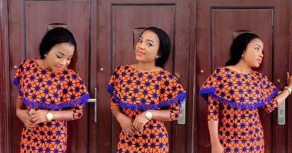 Classical Ankara Styles Short Gown for Ladies ..Classical Ankara Styles Short Gown for Ladies