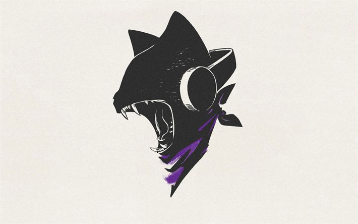 Download wallpapers Monstercat, retro, logo, art