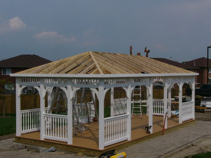 255 best images about wooden gazebo kits on pinterest - Gazebos de madera ...