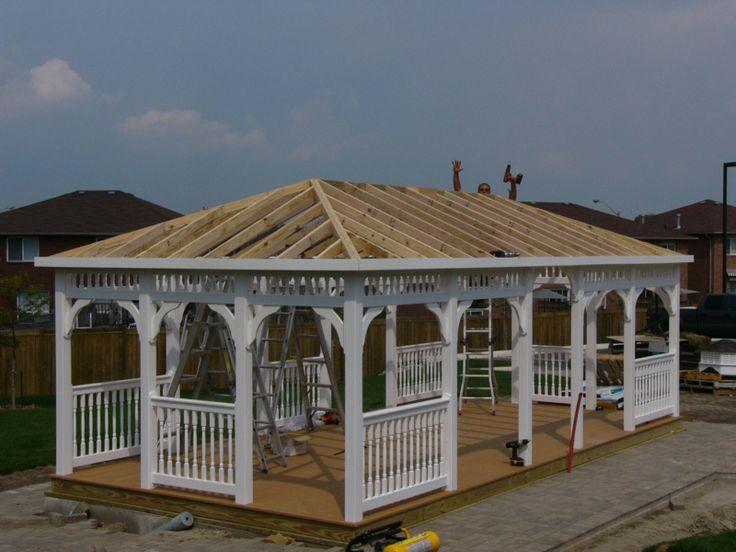 sheds for sale wooden gazebo kits pinterest wooden. Black Bedroom Furniture Sets. Home Design Ideas