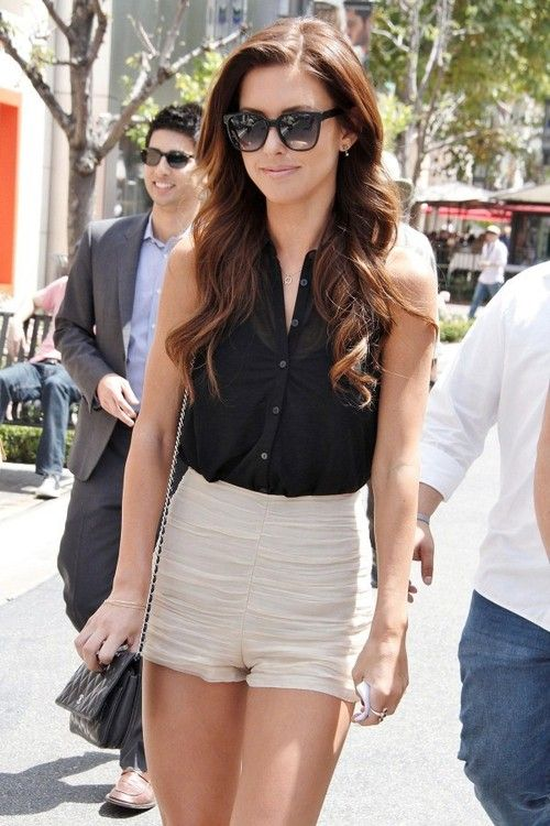 high waisted shorts  and i love her hair: Outfits, Fashion, Dreams Closet, Dressy Casual, Style, Clothing, Audrina Patridge, Hair, High Waist Shorts