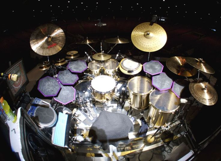 Drum set up for Danny Carey of Tool