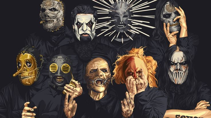 metal+band+fan+art | metal band, #Slipknot, #Nu Metal, #fan art | Wallpaper No. 416134 ...
