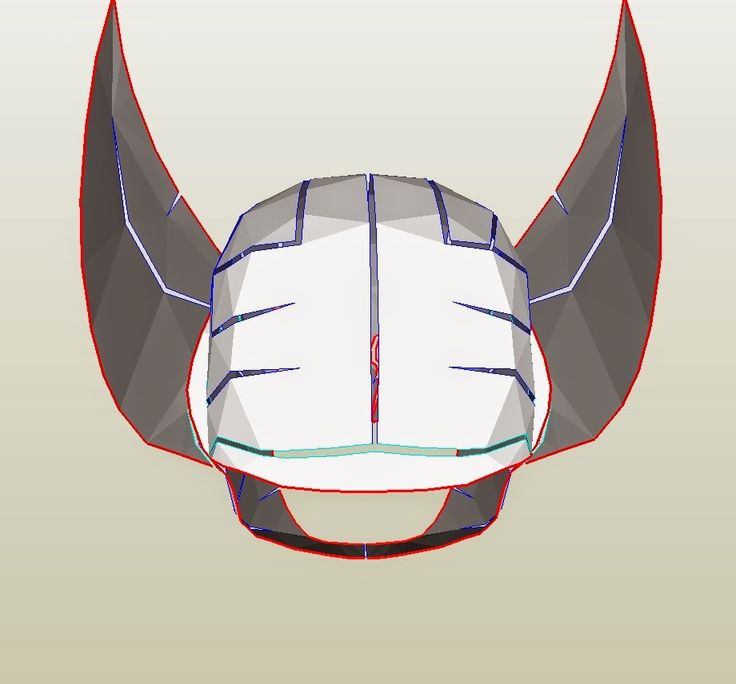 Dali lomo x men wolverine cowl diy cardboard with for Cyclops mask template