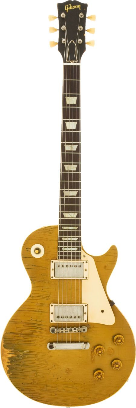 1958 Gibson Les Paul Standard Gold Top Solid Body Electric Guitar, Serial # 8 2788.