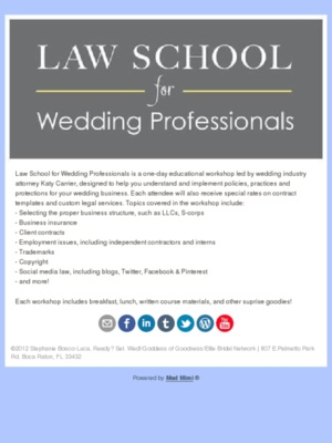 65 best wedding event planning resources images on pinterest law school for wedding professionals educational workshop fandeluxe Images