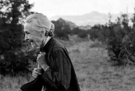 Georgia O'Keeffe photographed by John Loengard in 1966