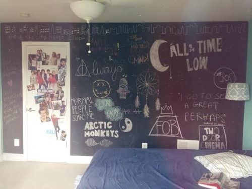 DORM ROOM IDEA! AHH I SAW THE paste on dry erase and chalkboard ones at Coles! OMG I NEED NOW