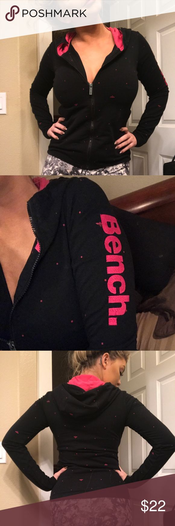 Bench Jacket Pink and black, unfortunately doesn't fit me after my breast aug. barely worn. Bench Jackets & Coats