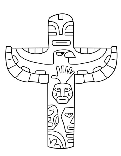 horse totem pole coloring pages - photo#7