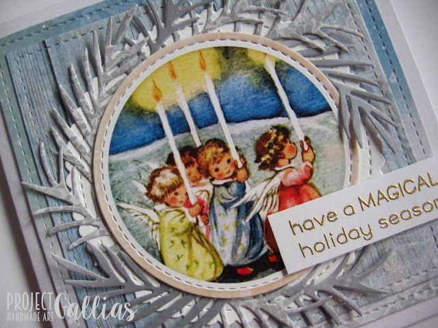 ProjectGallias dla Agateria Craft - Kartka z Aniołkami - A card with Angels