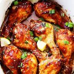 Crock Pot Citrus-Soy Chicken Drumsticks - These super easy chicken drumsticks are loaded with flavor and they're made in the crock pot for a simple, no-fuss dinner.