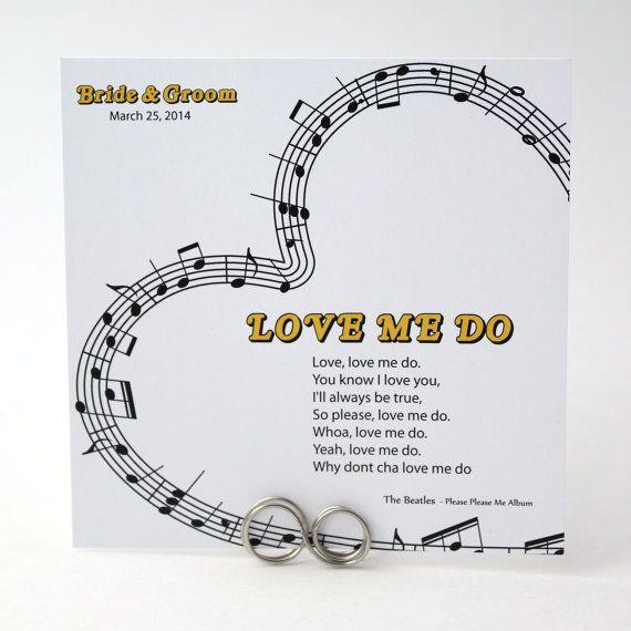 Music Theme Wedding Table Cards Notes By WeddingMonograms 350