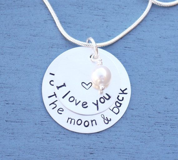 6 Year Anniversary I Love You To The Moon And Back Necklace - Unique 6th Anniersary Gift Idea 8B1SKC