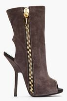 GIUSEPPE ZANOTTI Dark taupe suede Alien shark tooth Zipper Boots My favorite boots of the season!!! Will be wearing them with everything! From leggings to jeans to shorts, skirts and dresses!!!! and you can fold them down for a relaxed look! LOVE!!