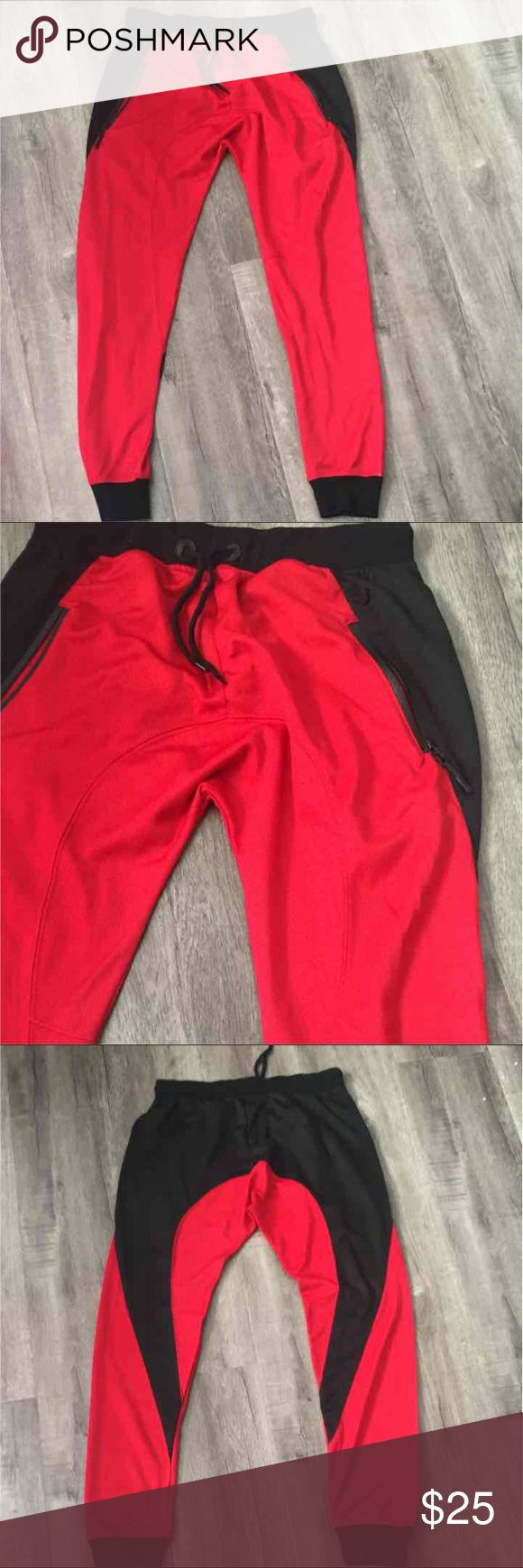 "NWOT Men's jogger harem pants Never worn waist 14"" with lots of stretch inseam 29"" has harem drop crotch also has zippered pockets bought from Tilly's.... perfect pants to wear with your Jordan low top 11 breds JS Tilly's Pants Sweatpants & Joggers"