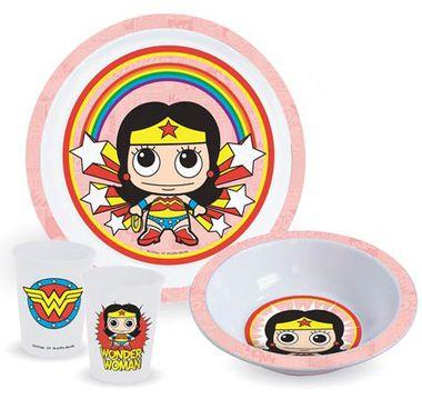 WONDER WOMAN KID'S DINNER SET