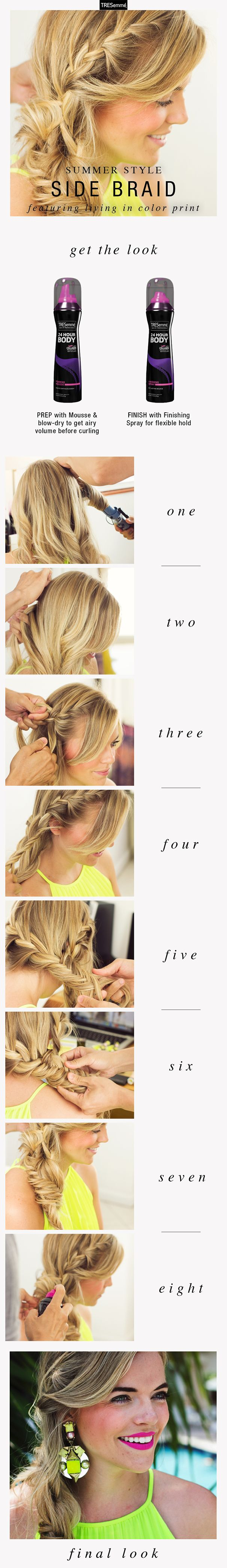 Get the Look: Gorgeous Undone Side Braid on Kristin Clark of Living in Color Print