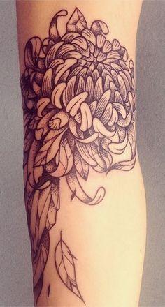 Japanese Chrysanthemum Flowers tattoo - חיפוש ב-Google