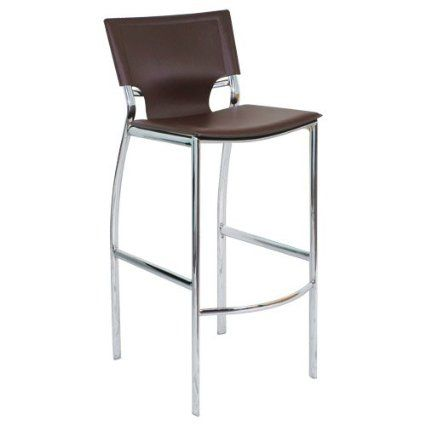 Cannes Bar Stool Color: Brown