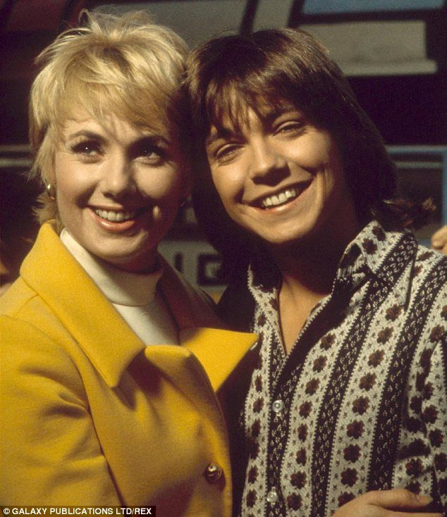 David Cassidy, (pictured with Partridge Family co-star Shirley Jones) in 1972