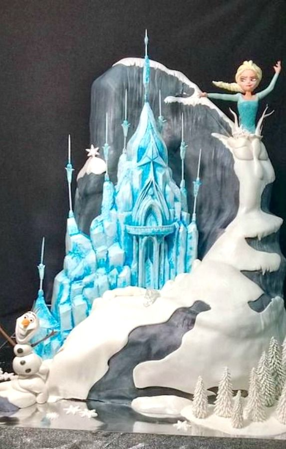 Frozen Cake Would People Judge Me If This Was My Wedding It S So Perf Emily In 2018 Pinterest And Disney Cakes