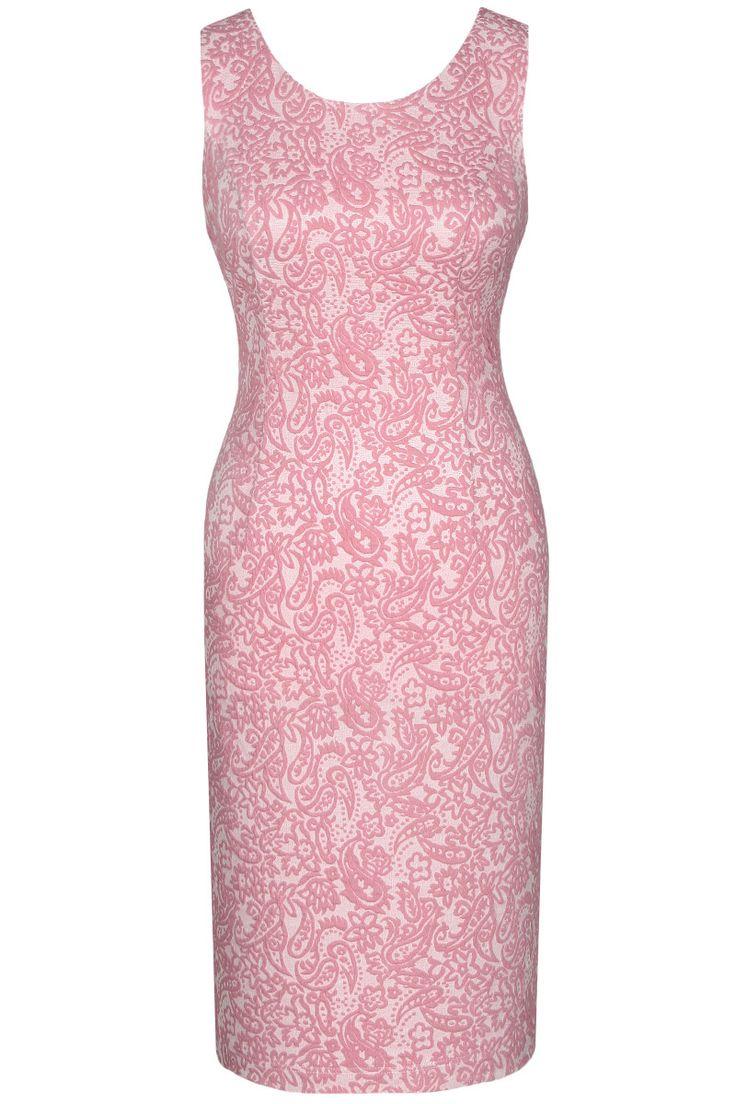 Sukienka Klasyczna Ołówkowa Różówa