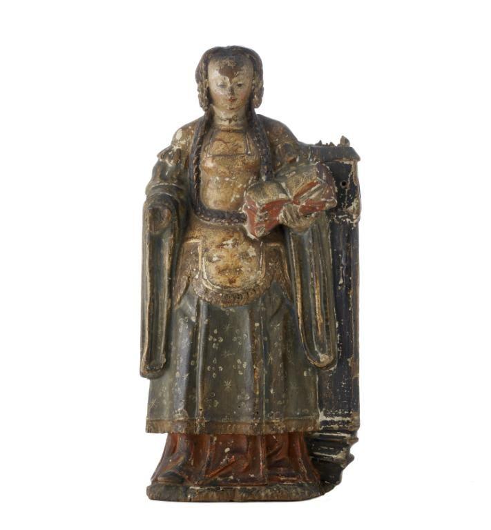 Sainte Barbe, Malines, vers 1490-1500. MAD 1421. Don Cossé-Brissac en souvenir de la comtesse de Biencourt, 1943. © Musée des Arts décoratifs de Lyon, Sylvain Pretto.
