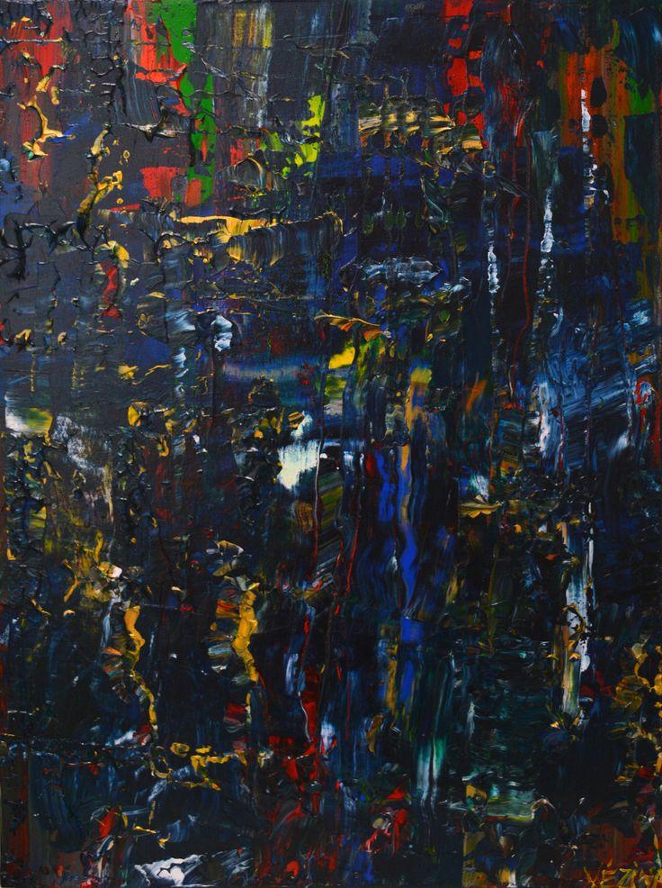 """Dans les profondeurs  Acrylique sur toile 18"""" x 24"""""""