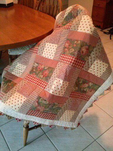Quilt donated for a raffle prize at St Joey's Biggest Morning Tea.  Made from Rose Patchwork Cottage pattern called Rose of Provence.