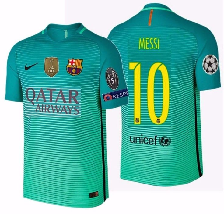NIKE L. MESSI FC BARCELONA AUTHENTIC VAPOR MATCH UCL THIRD JERSEY 2016/17 QATAR.