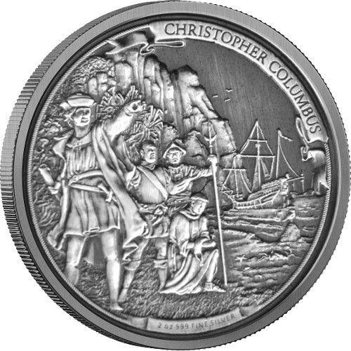Odkrywcze podróże: Kolumb 2 uncje srebra