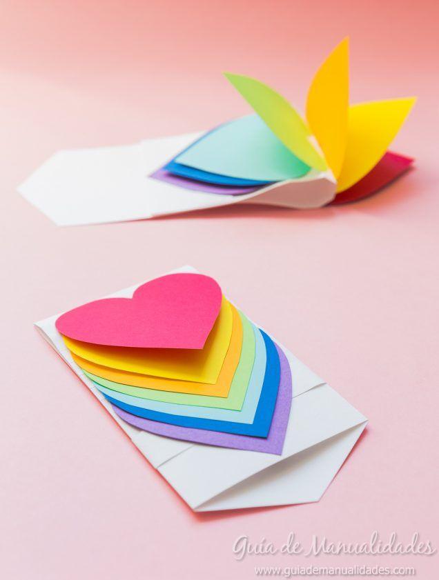 Tarjeta de corazones móviles
