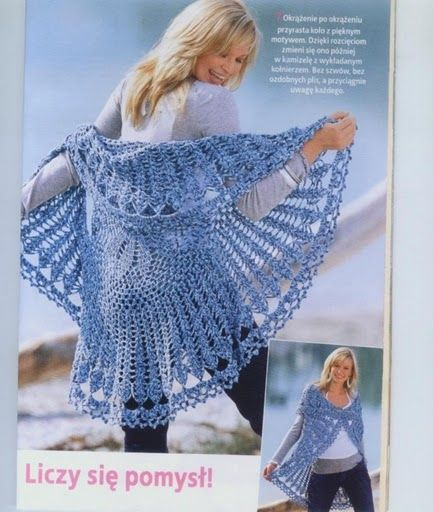 Circular Blue Vest free crochet pattern *at the bottom also has some other cute patterns