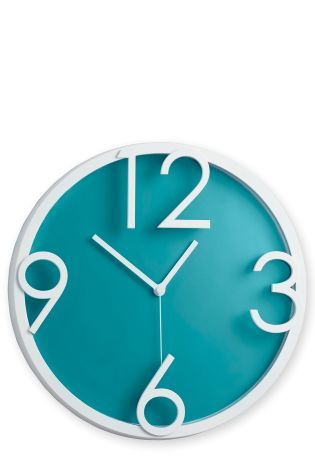 Teal Wall Clock Studio Collection By Next