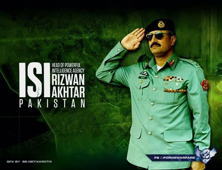 General Rizwan Akhtar. Head of one of the  world powerful inteligence agency. ISI PAKISTAN.